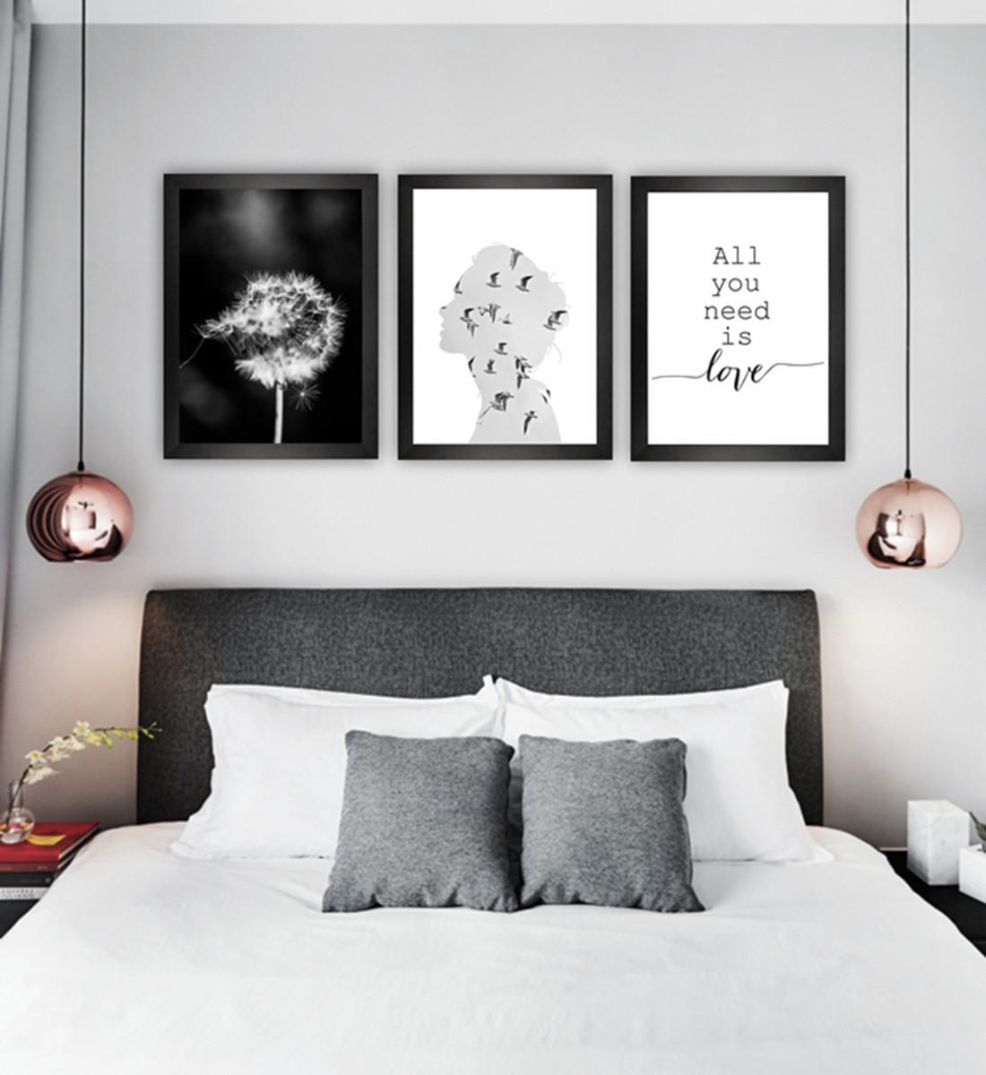 kit de quadros decorativos combinacao poster decoracao casa poster