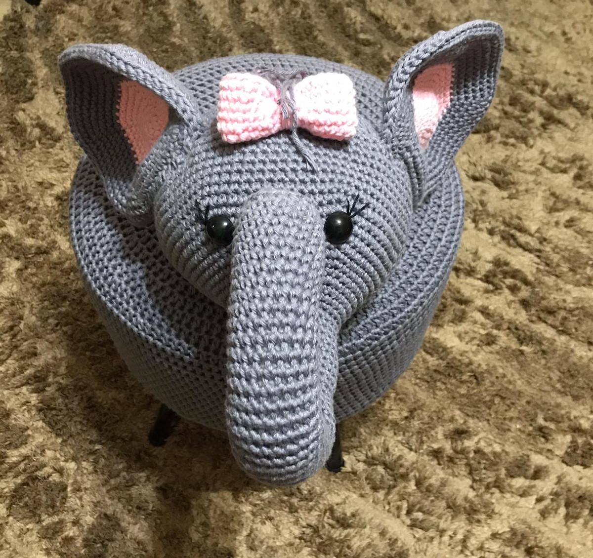 Elefante Receita de Amigurumi de Crochê por Little Bear Crochets | 1130x1200