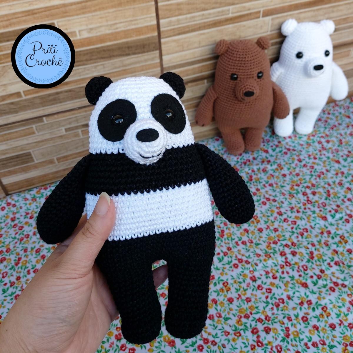 Craft Lotus: Amigurumi Panda … | Urso de crochê, Brinquedos de crochê,  Amigurumi de animais de crochê | 1200x1200