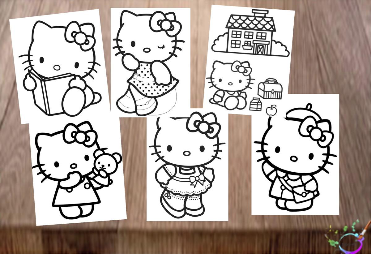 Desenhos De Colorir Hello Kitty No Elo7 Tipoart 11a92b5