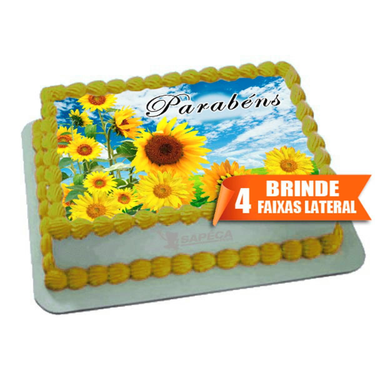 Papel Arroz Floral Girassol Flores Brinde Faixas Laterais No Elo7 Sapéca Print F33e3e