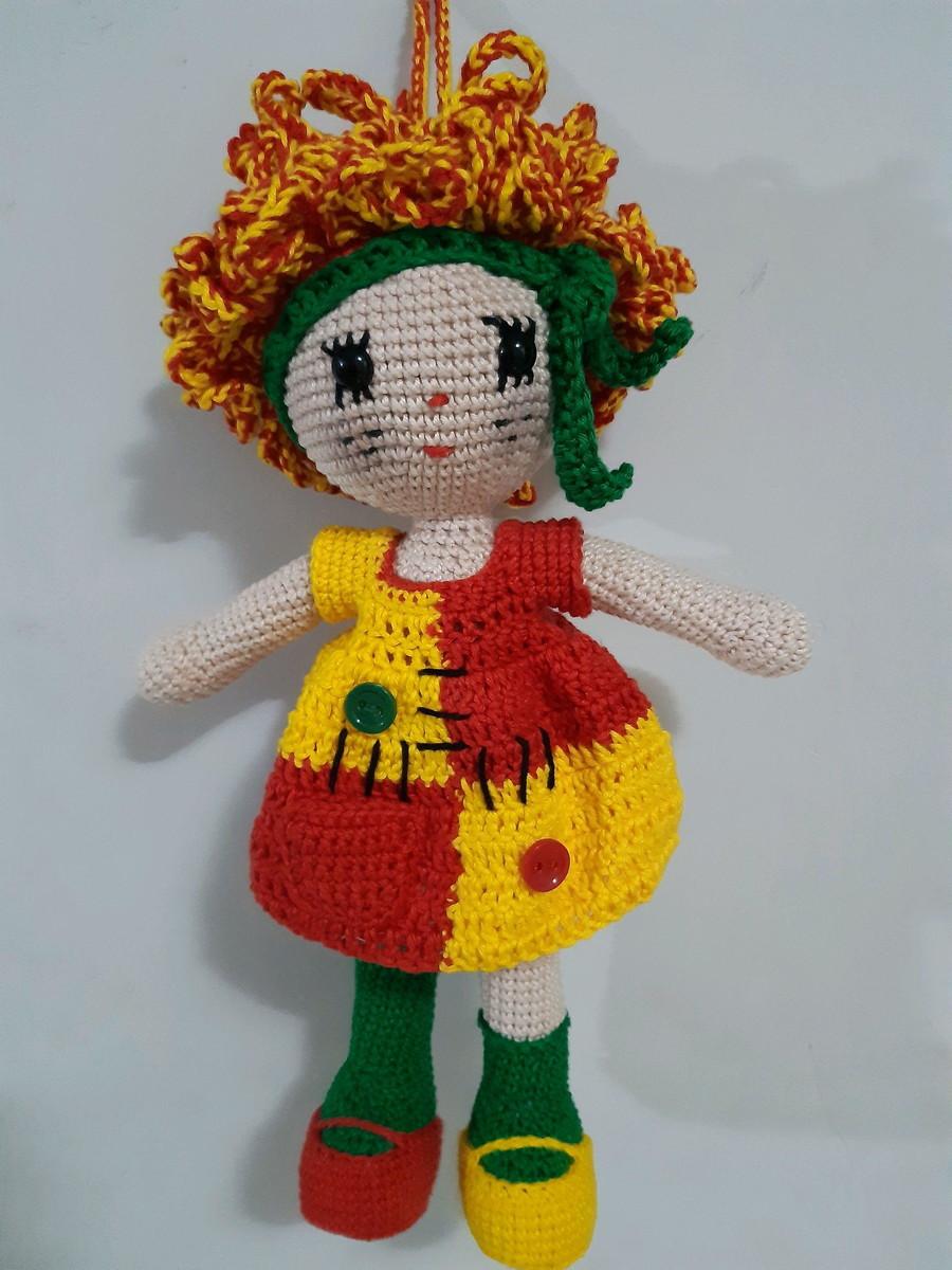 Boneca Emília de Crochê no Elo7 | Belanartes (A21F86) | 1200x900