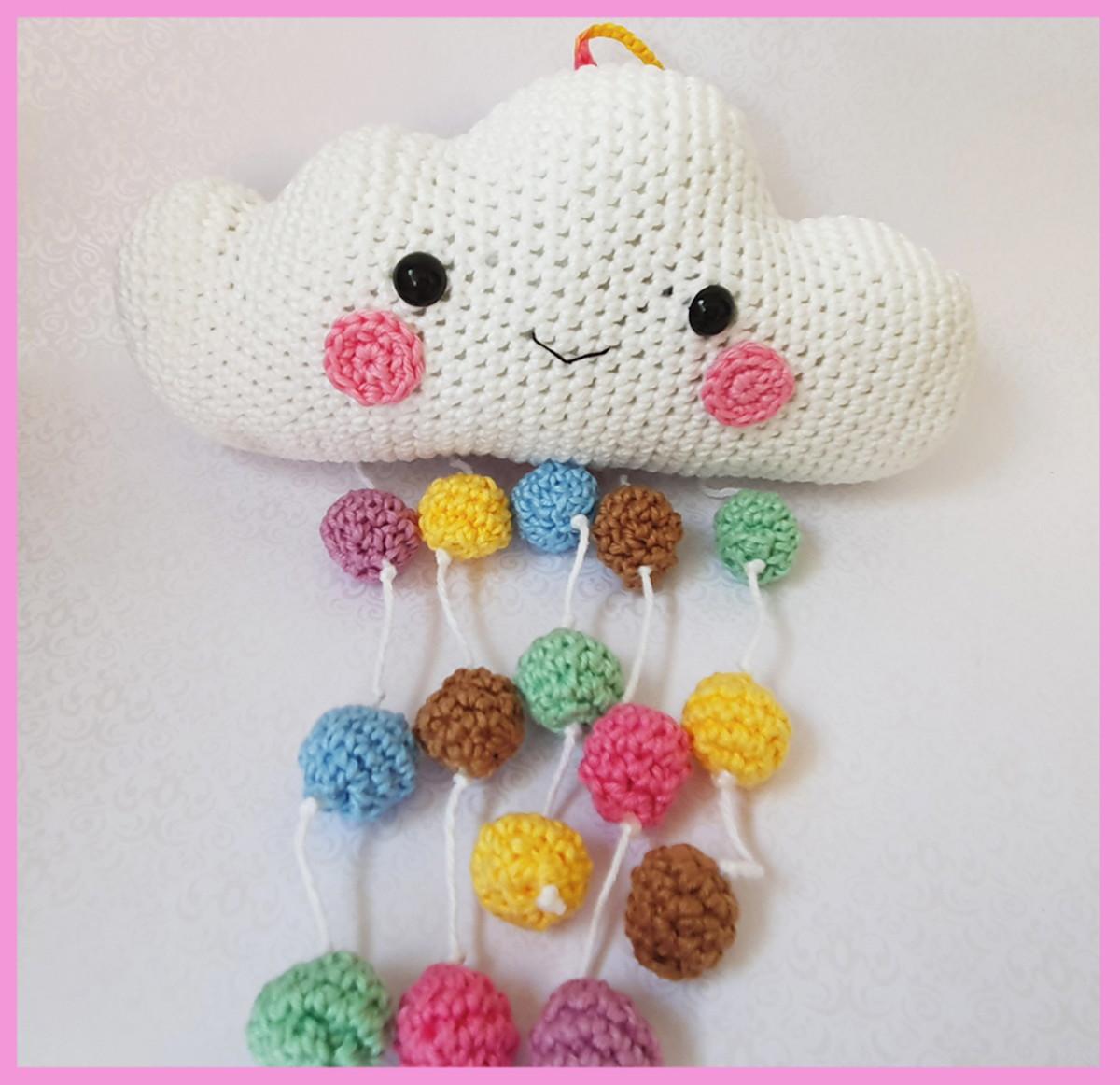 Cloud Mobile Crochet pattern by Super Cute Design   Crochet mobile ...   1162x1200