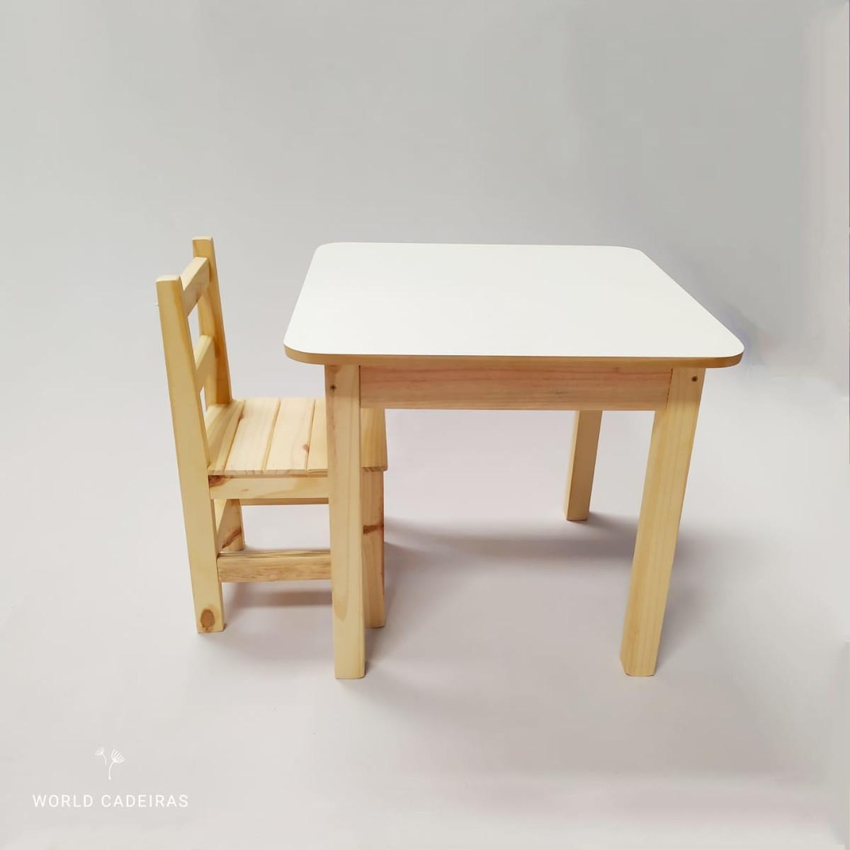 Mesa Infantil Com 1 Cadeiras De Madeira Macica Forte 80 Kg No Elo7 World Cadeiras 1218dbd