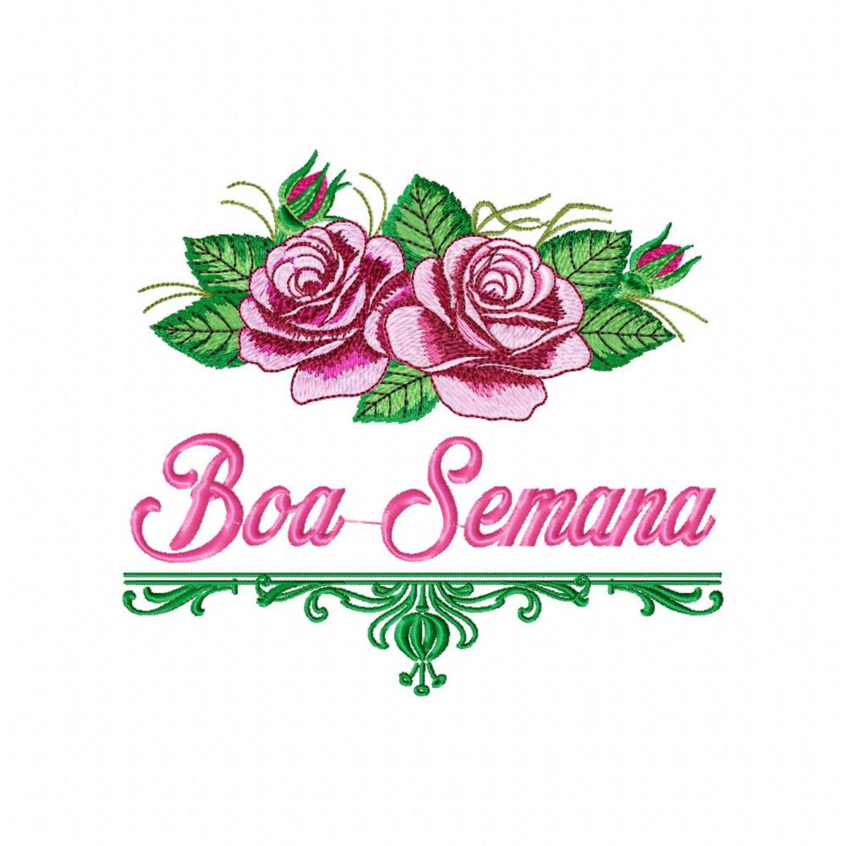 Matriz Boa Semana Rosas Semaninha Cozinha Agulha Feliz no Elo7 ...