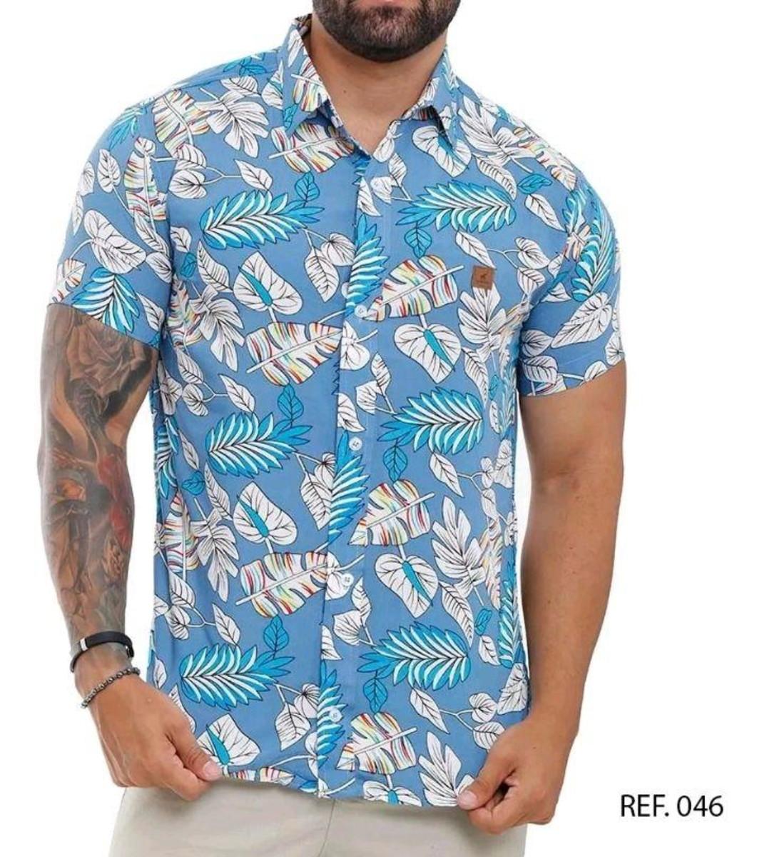 Camisa Florida Masculina Homem Em Oferta No Elo7 Mega Luxo 122330e