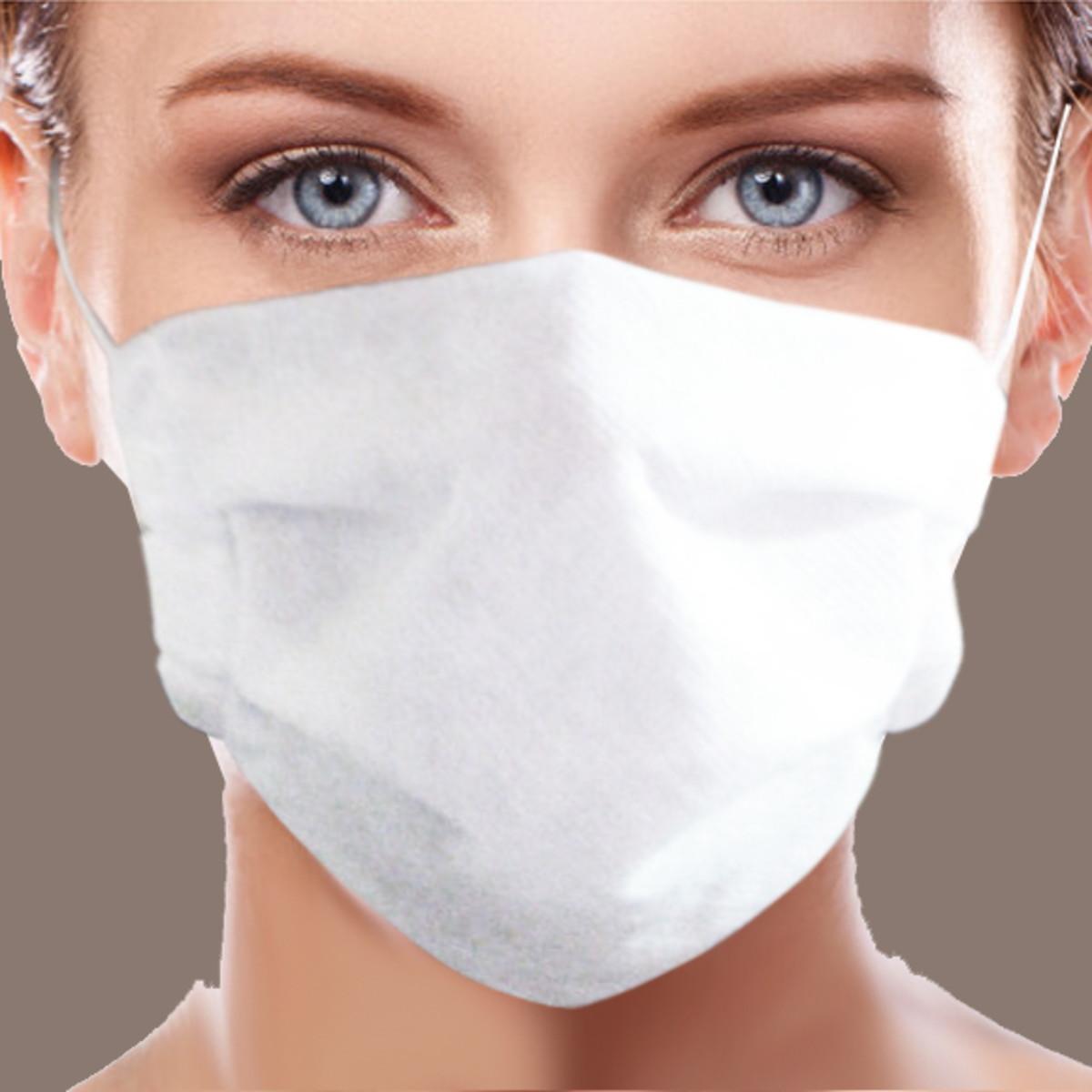 kit de 10 máscaras de proteção lavável tecido TNT Grosso no Elo7 ...