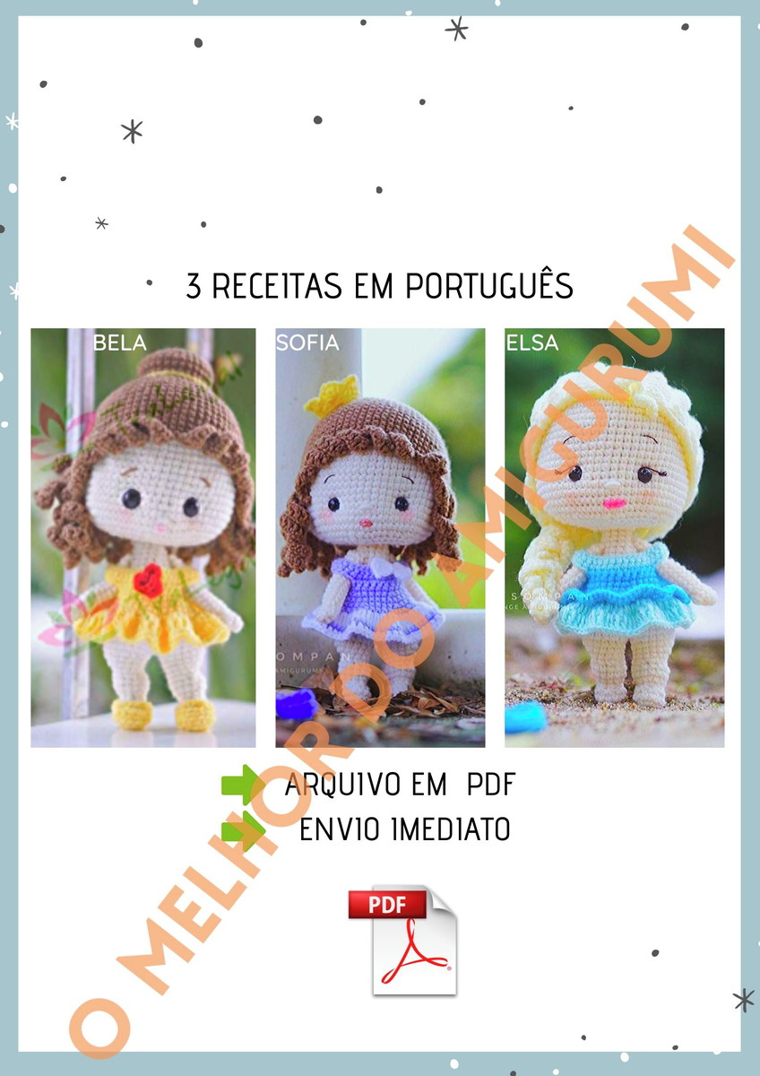 200 Lindas Receitas De Amigurumis Em Português: Você vai receber ... | 1200x848
