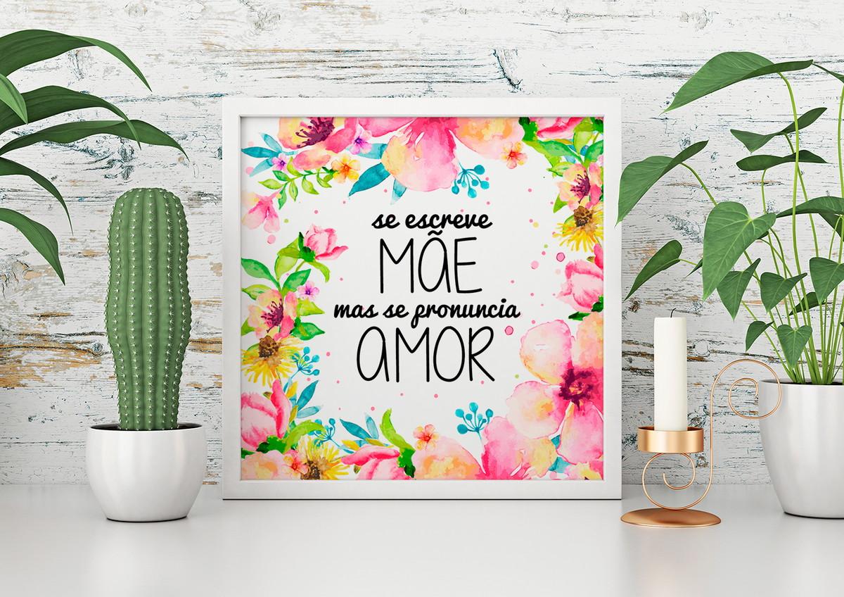 Quadro Decorativo Frases Se Escreve Mae Se Pronuncia Amor No Elo7 Yesoriginal Br 1233ff5