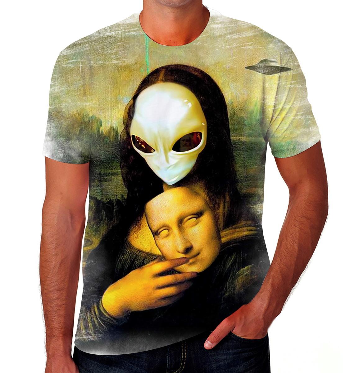 Camiseta Camisa Personalizada Mona Lisa Arte Meme 07 no ...