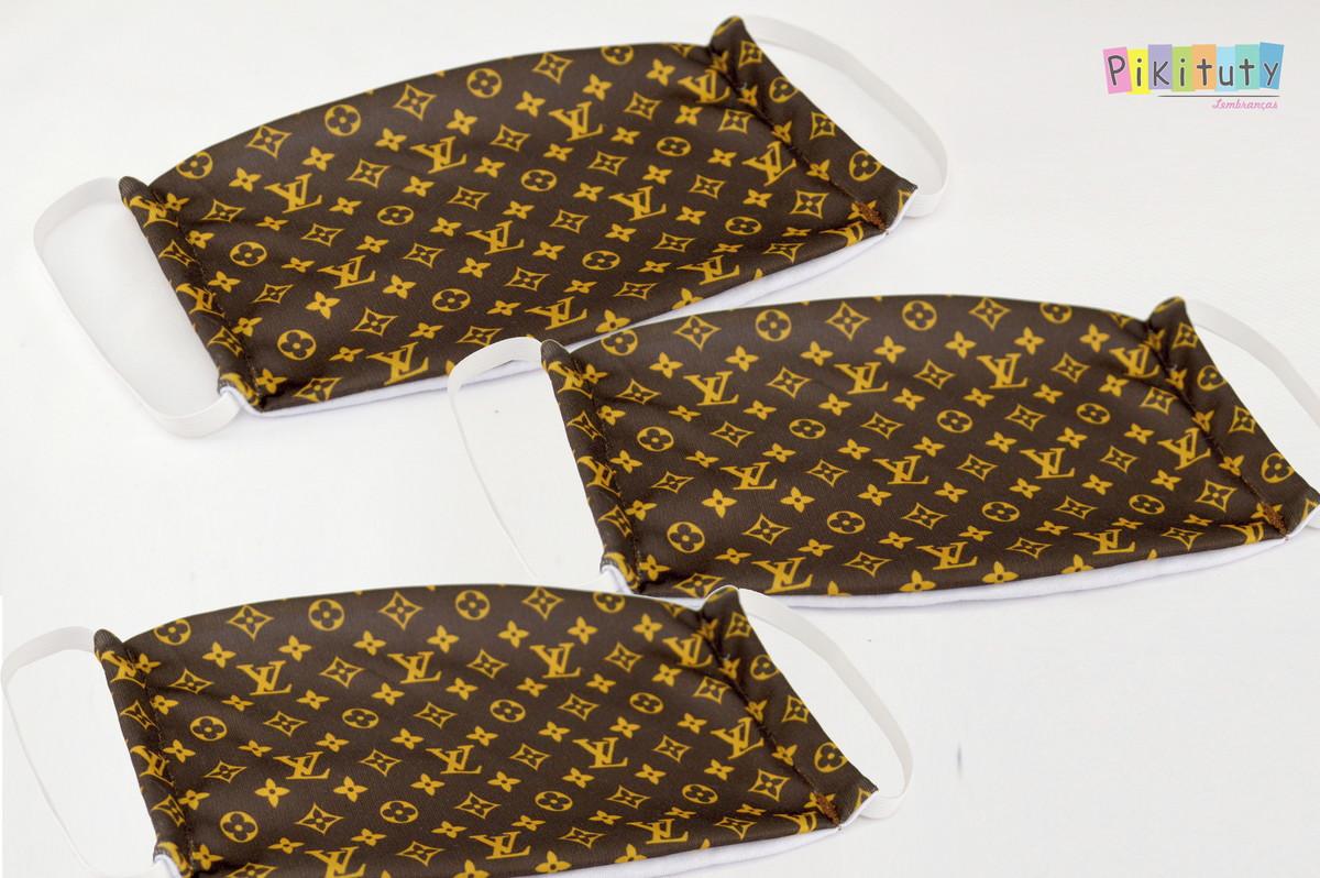 Kit 3 máscaras em tecido Adul/Infantil Louis Vuitton no Elo7 ...