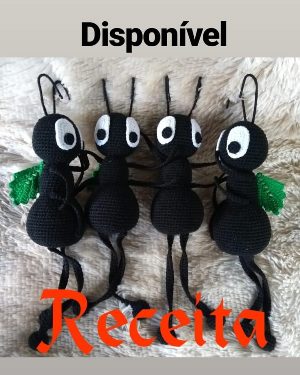Amigurumi Ant Free Crochet Pattern - Crochet.msa.plus | Bichinhos ... | 1200x960