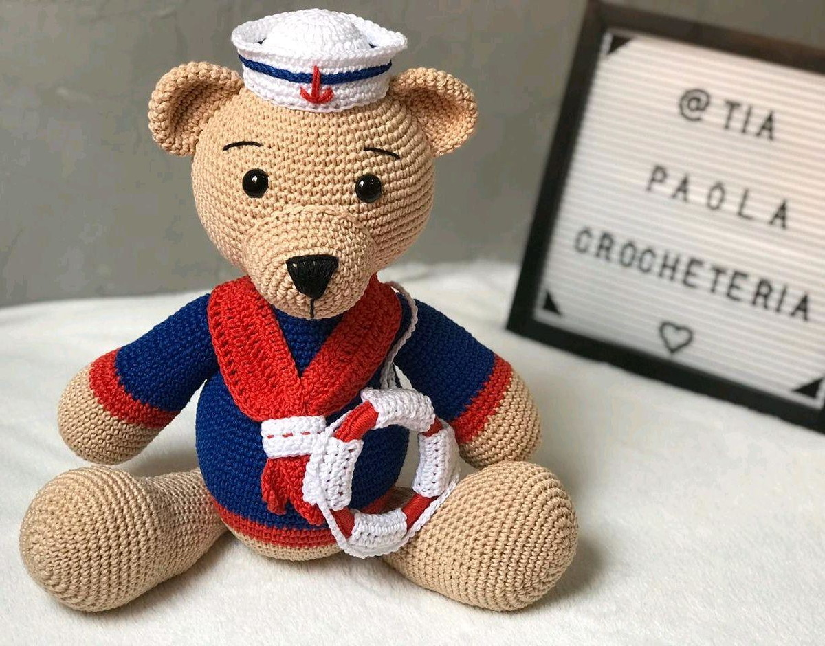 Urso Marinheiro - Amigurumi no Elo7 | Ateliê da Vovó Marcia (E9E679) | 940x1200