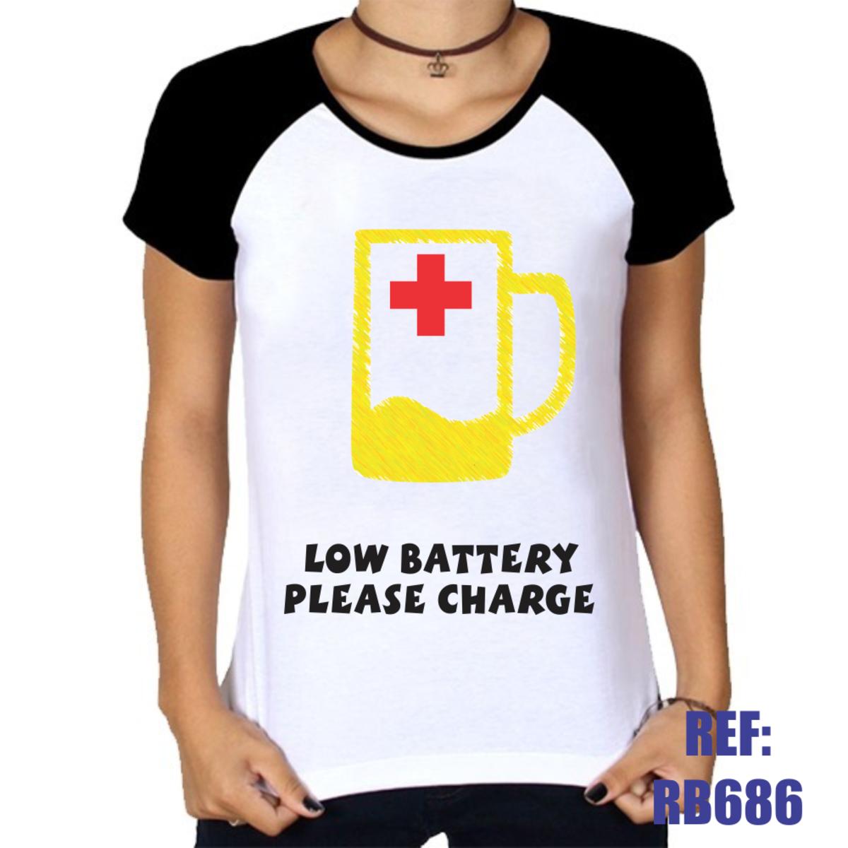 Camiseta Raglan Baby Look Low Battery Please Charge No Elo7 Web Print Estamparia Ltda Me 126774c