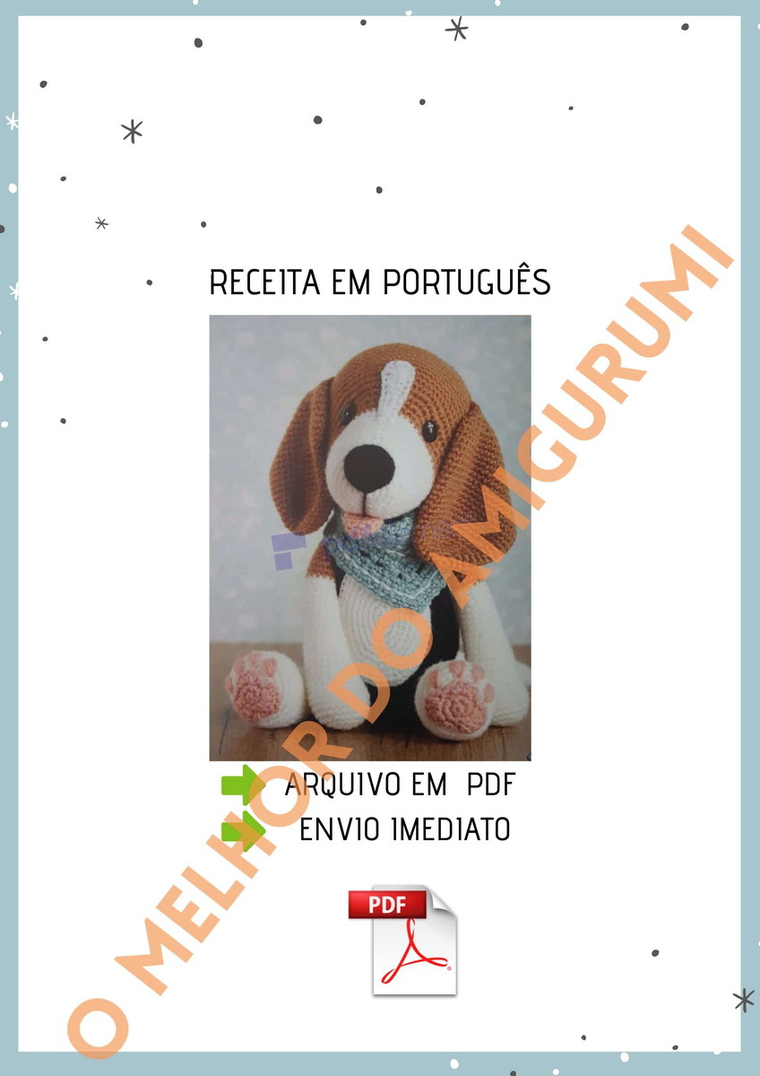 receita cachorro amigurumi pdf no Elo7 | amigulove1 (12E4372) | 1200x848