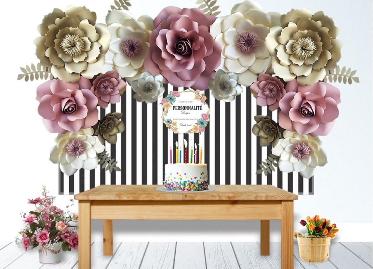 Flores gigantes de Papel Luxo p/ Painel Aniversário e festas no ...