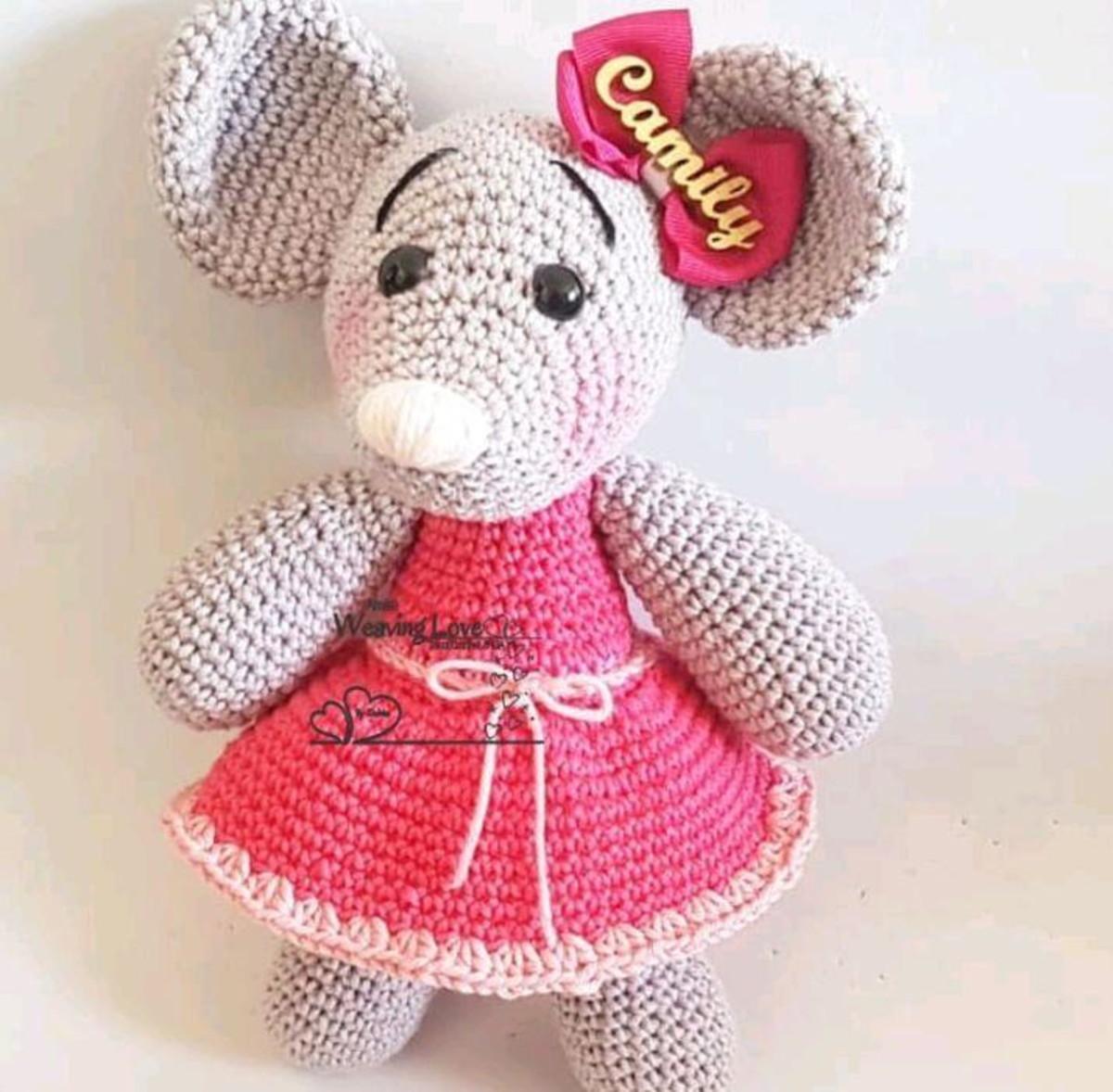 Eu quero Crochê - Chaveiro ratinho Já à venda na loja do... | Facebook | 1178x1200