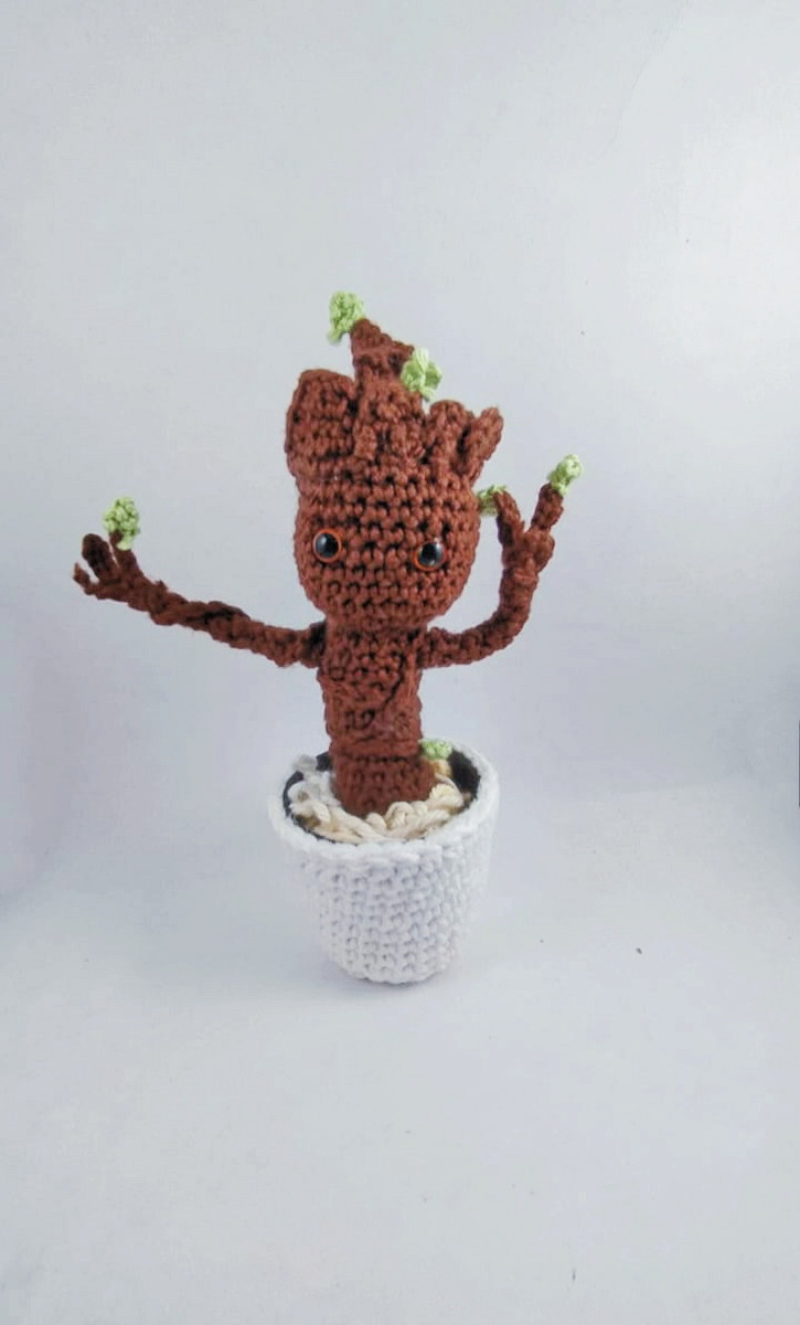 DIY PATTERN - Baby Groot (vol2) - Amigurumi Crochet Pattern ... | 1200x725