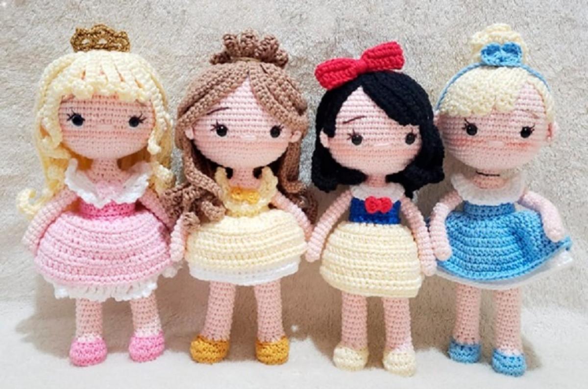 Mega Combo 14 Receitas Amigurumi Princesas Disney -Português no ... | 795x1200