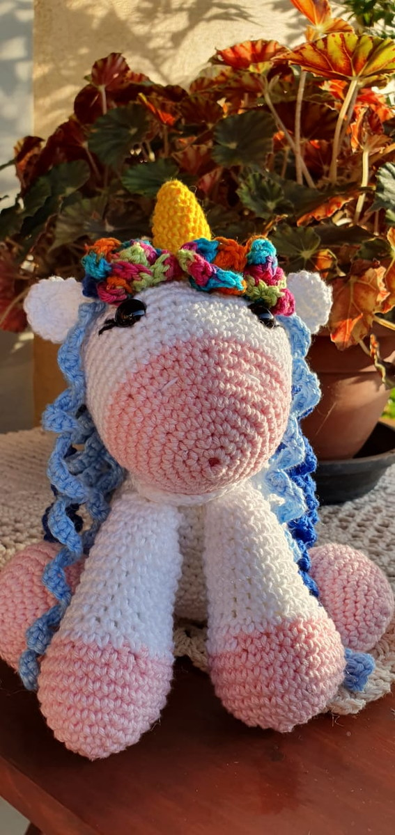 A Sweet Crocheted Unicorn . . . in custom colors | Amigurumi ... | 1200x567