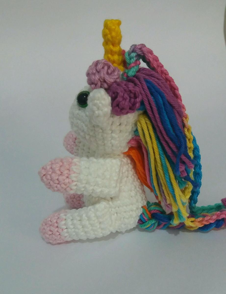 Mini Plush Pastel Rainbow Unicorn / Small Rainbow Crochet Unicorn ... | 1200x922
