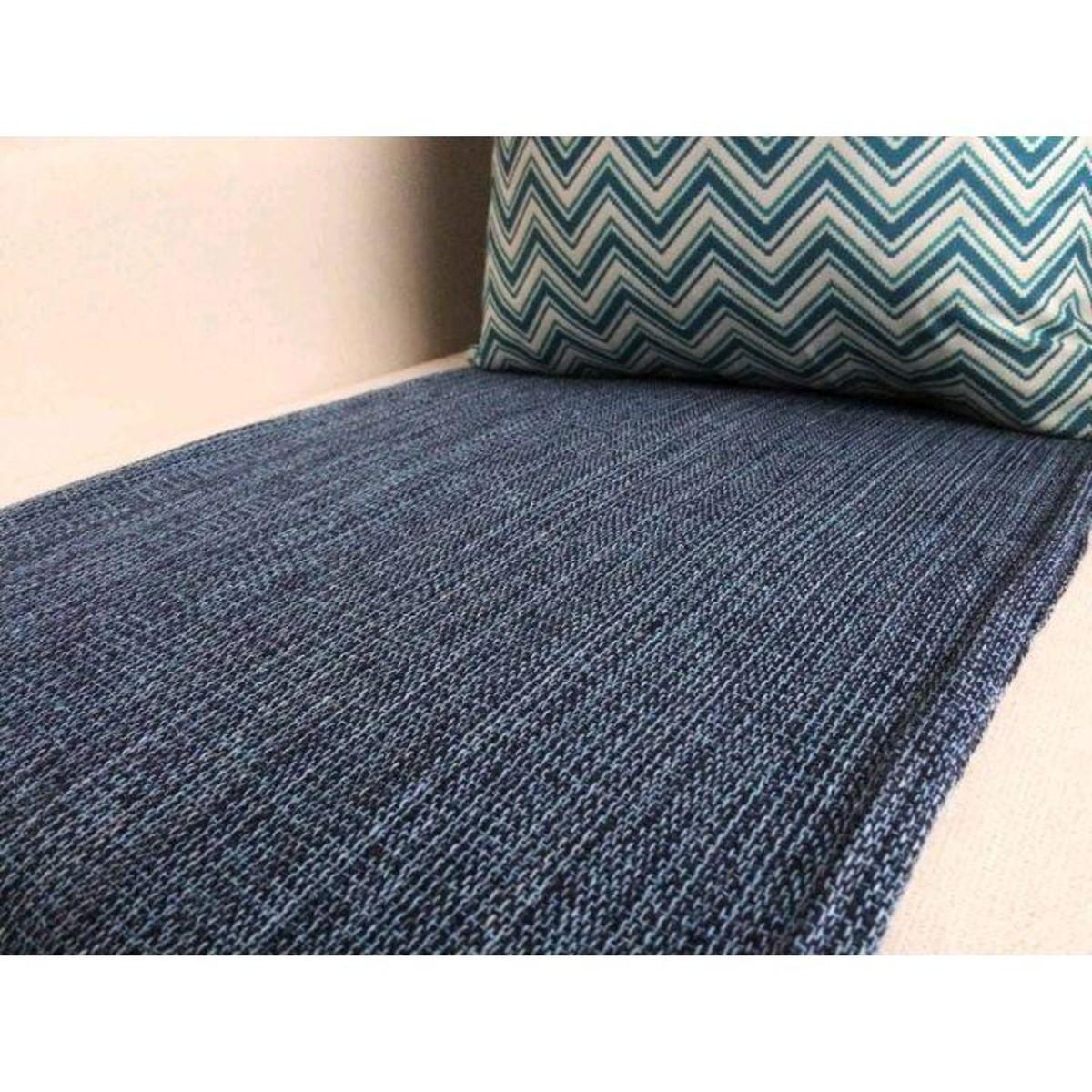 Manta sofá 1,5x2,2m Decorativa Azul jeans no Elo7 ...