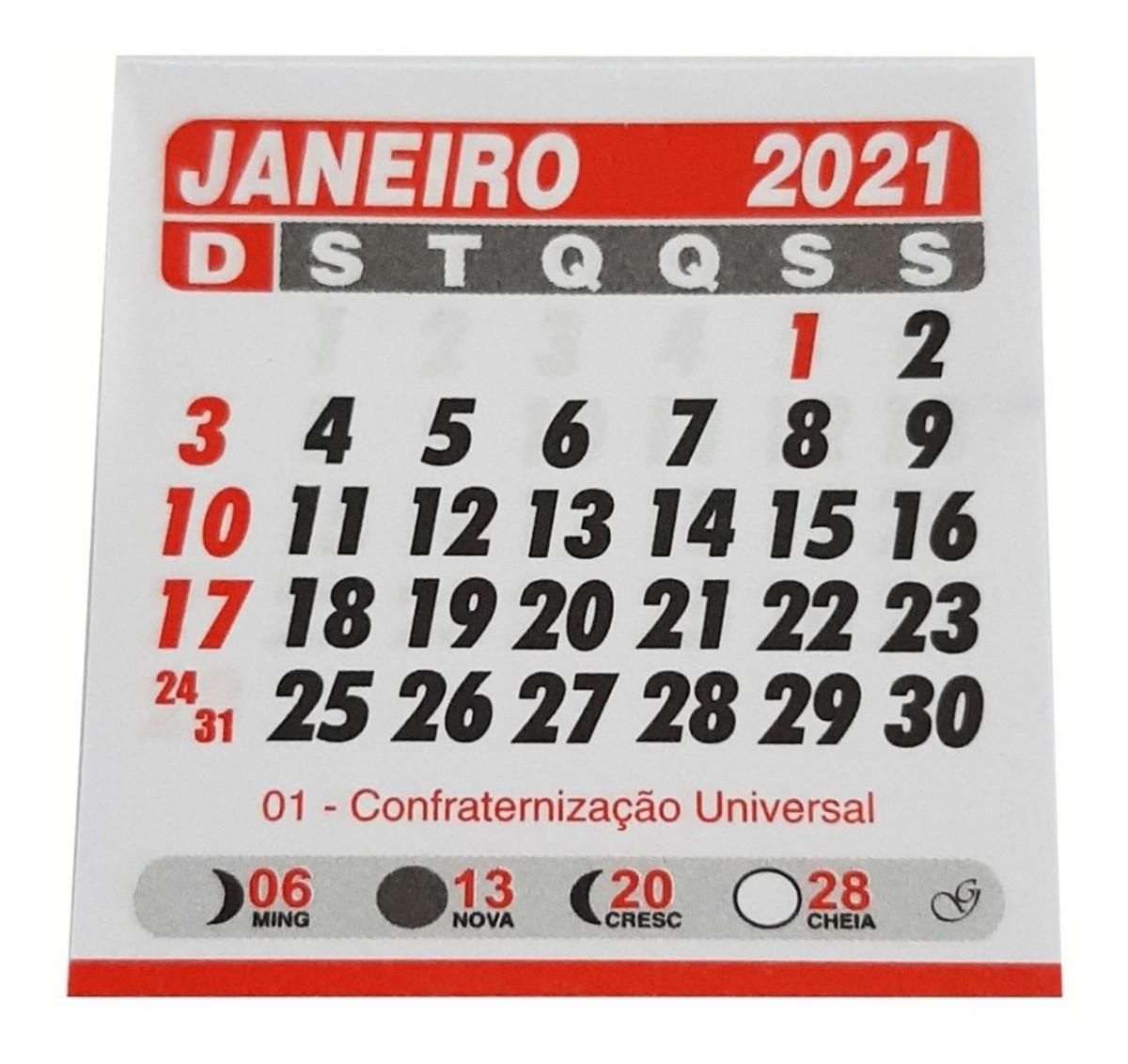 Mini CALENDARIO 2021 no Elo7 | Eu quero Lembrancinhas (4376FD)