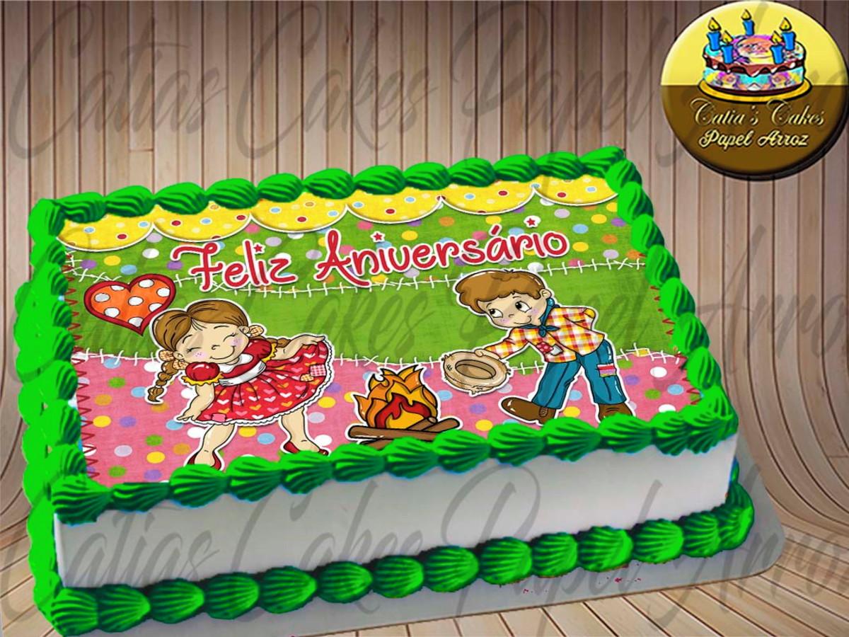 Festa Junina Papel De Arroz A4 Para Bolos E Tortas No Elo7 Catias Cakes Papel Arroz C4fc64