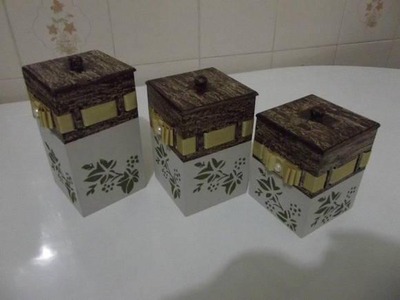 Porta papel higienico  DAY ARTES E PRESENTES  Elo7 -> Kit Banheiro Mdf Decorado