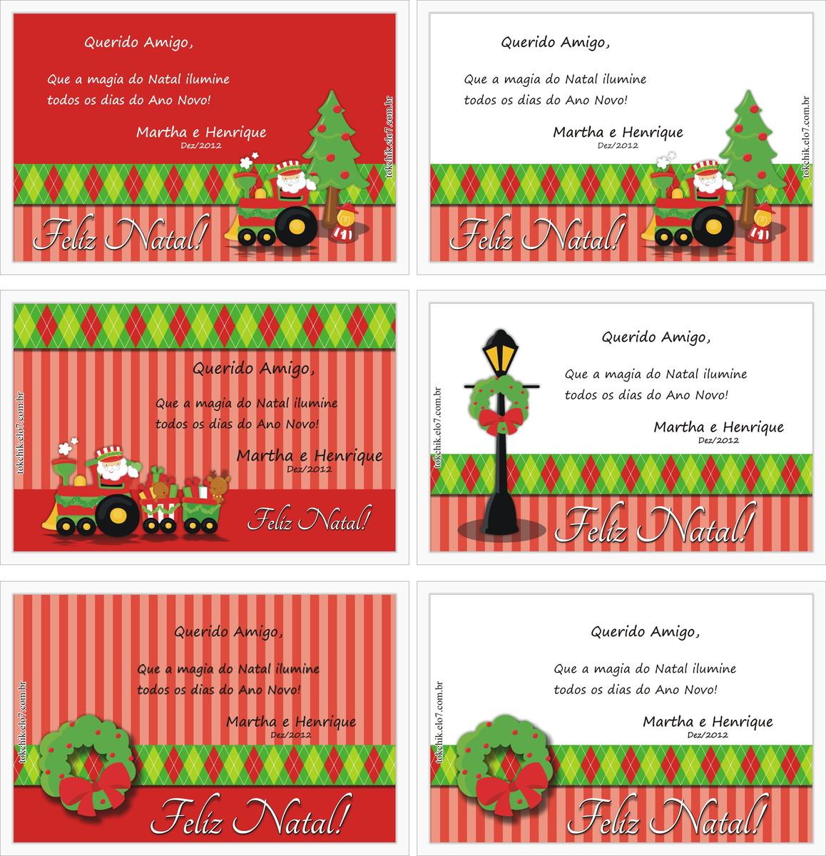 Cartão Natal Digital Personalizadoarte No Elo7 Tok Chik 29e95d