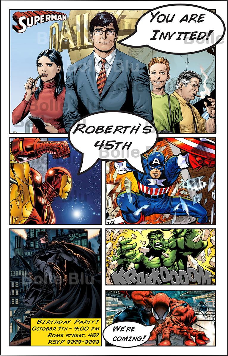 Hq marvel comics convite personalizado no elo7 al al do ura 2bc221 - Marvel spiderman comics pdf ...