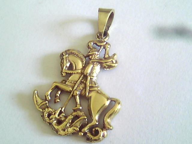 Pingente São Jorge com Banho de ouro 18K no Elo7   Garimpo Joias RJ ... d993bf2c00