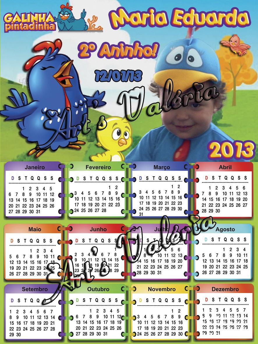 Calendário Fotográfico - 7x10cm no Elo7   Arts Valeria ... 0600b6b31d