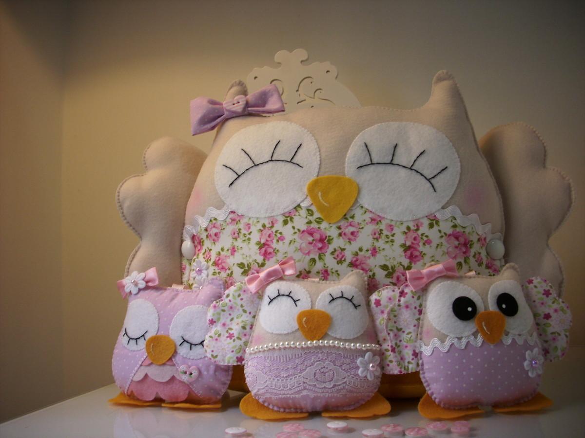 almofada de coruja : coruja-almofada-de-feltro coruja-almofada-de-feltro