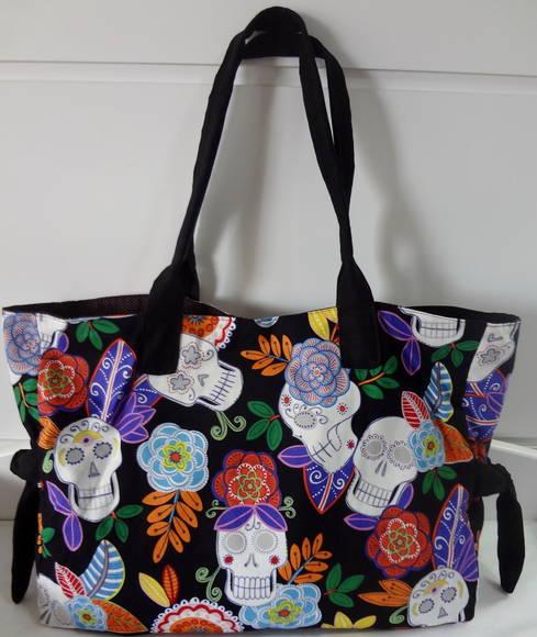 Bolsa De Festa Caveira : Bolsa caveira mexicana tecido importado no elo