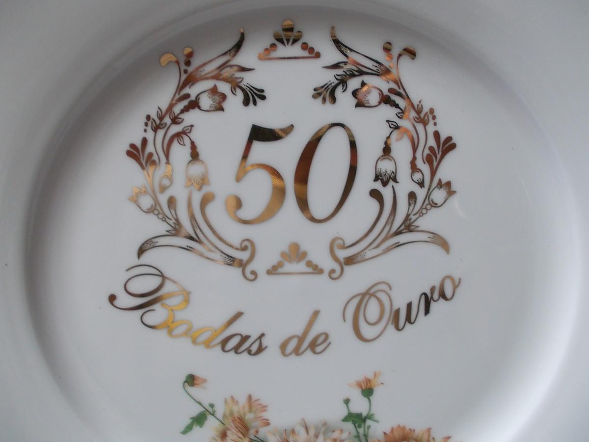 Prato bodas de ouro made in brazil arte moderna elo7 - Regalos 50 anos de casados ...