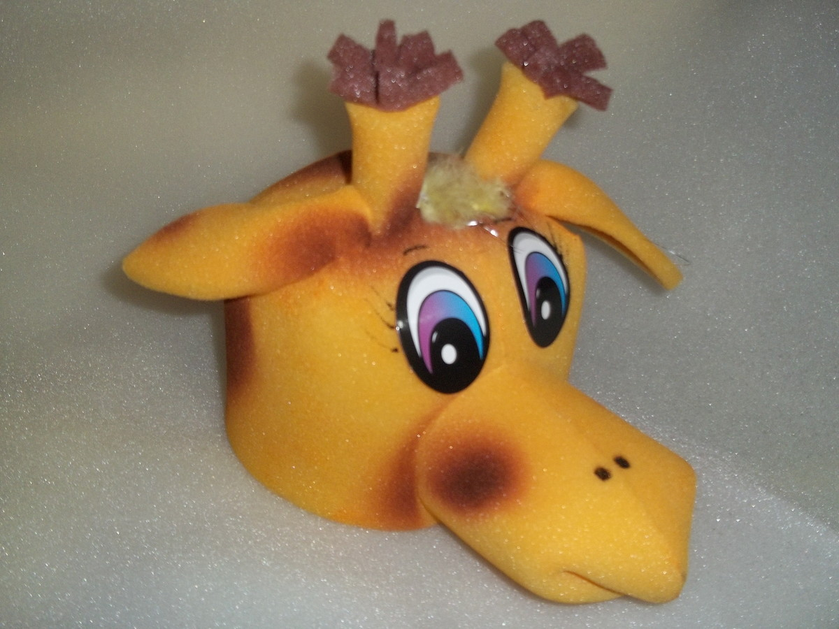 girafa chapéu em espuma no Elo7  8a71916f67f