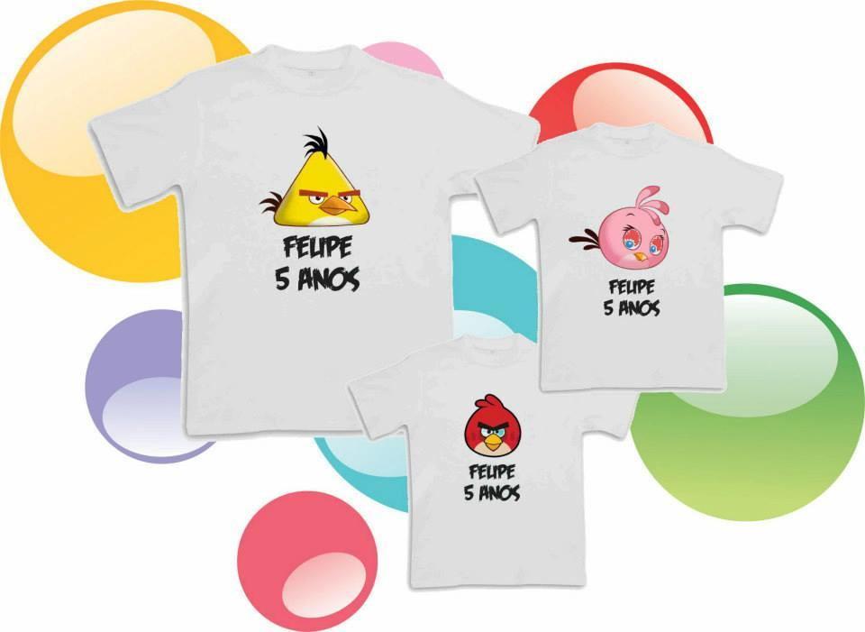 Body Mesversario Angry Birds Kit No Elo7: Camisetas Aniversário Angry No Elo7