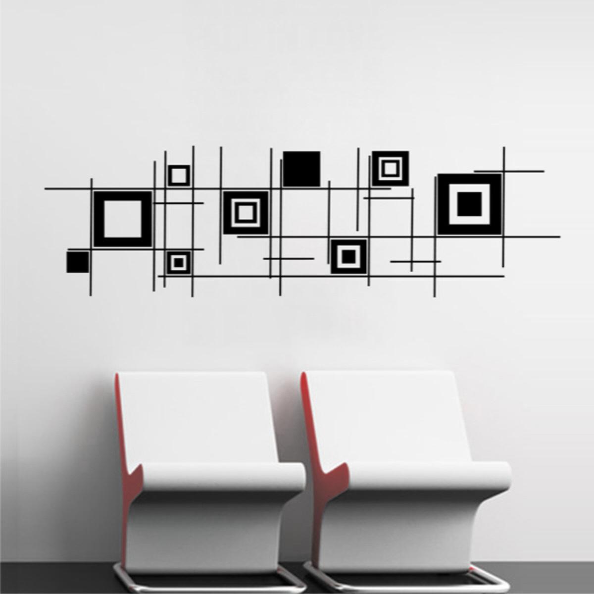 Aparador Para Ficar Atras Do Sofa ~ Adesivo De Parede Formas geométricas no Elo7 Paredes decoradas com adesivos (317417)