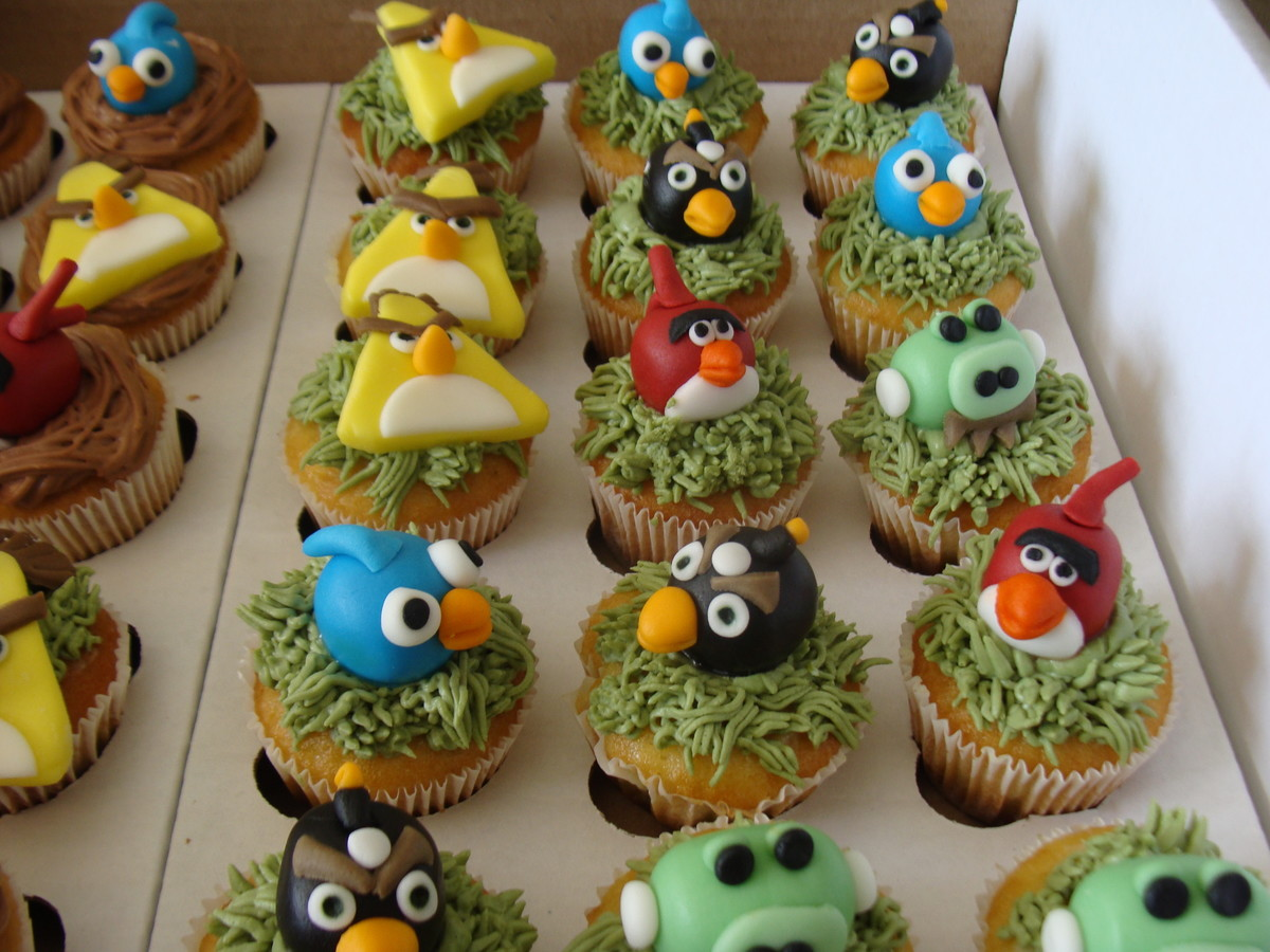 Toppers Personagens Angry Birds: Angry Birds Cupcake No Elo7