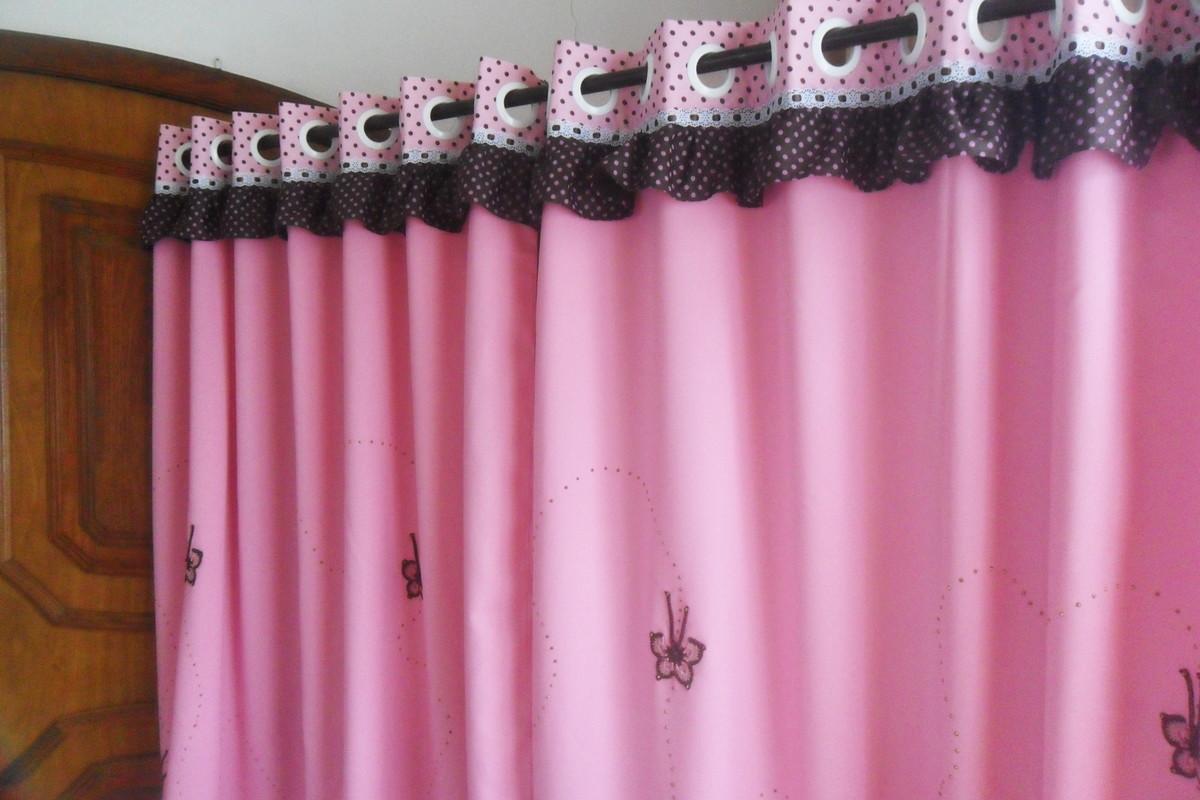 Cortina sob medida escolha cores no elo7 croch carioca - Modelos de cortinas infantiles ...