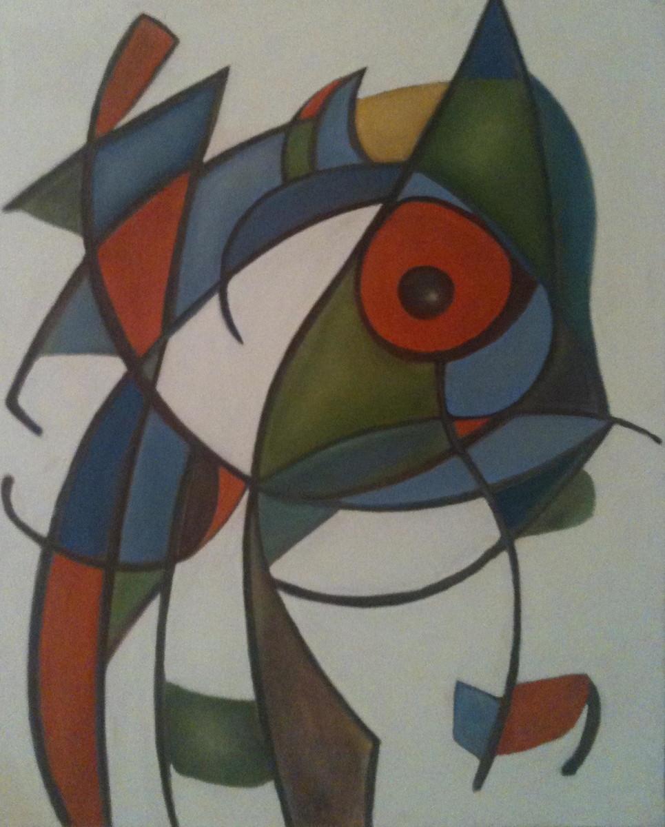 Pintura quadro releitura de joan mir fredi ambrogi elo7 for Pinterest obras de arte
