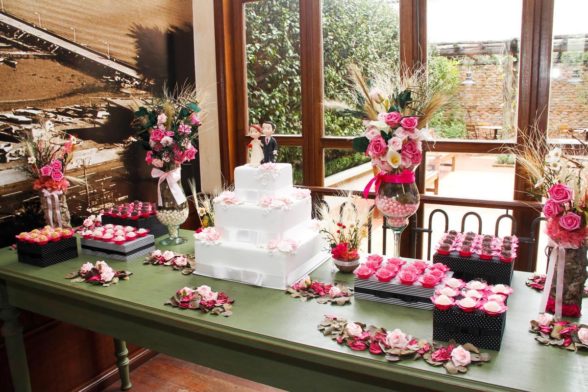 kit festa arranjos pink bolo em e v a no elo7