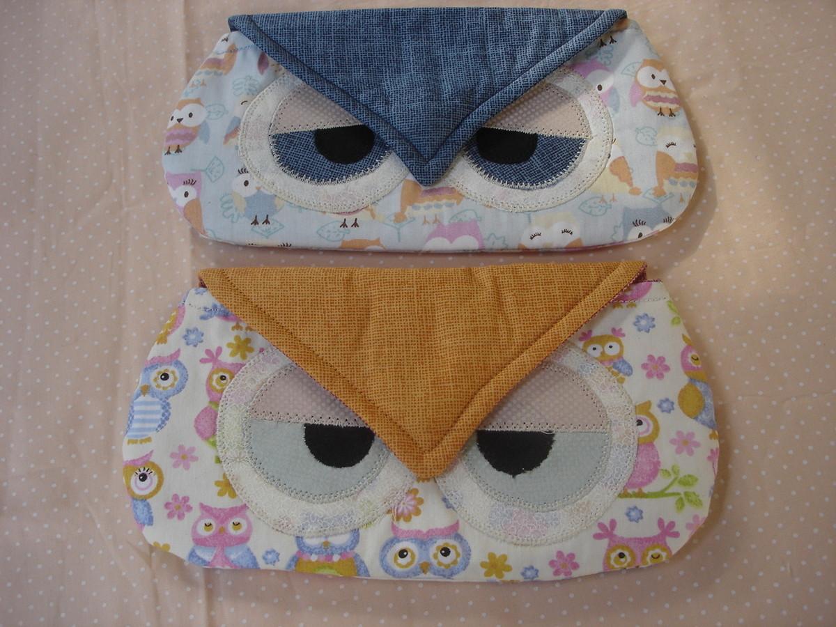 Porta culos coruja teco di pano elo7 for Porta oculos