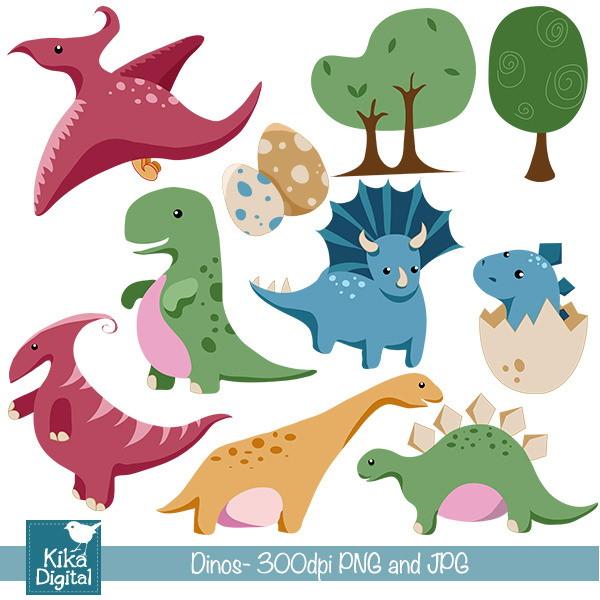Clipart Dinossauros Bebê No Elo7