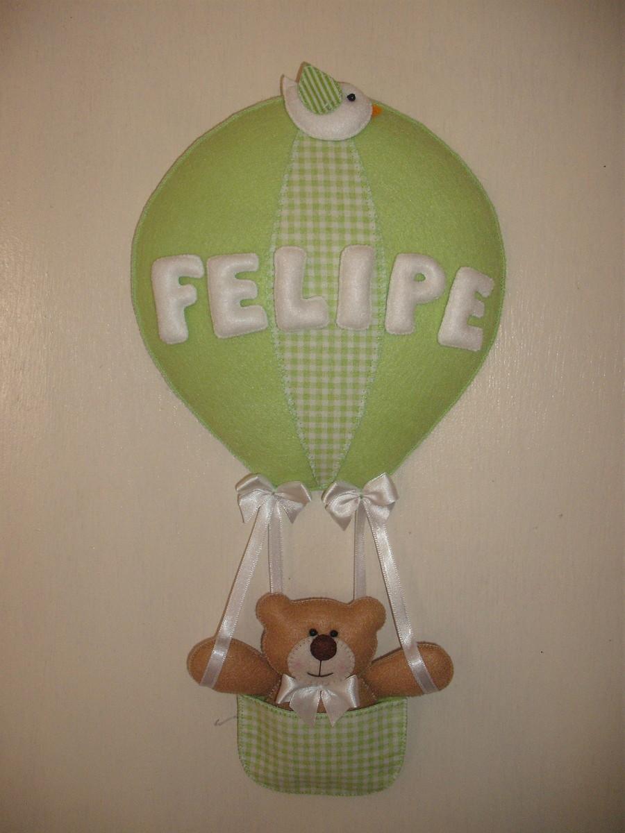 Enfeite De Balão ~ Enfeite de porta urso no bal u00e3o FUXICOS DA SU Elo7