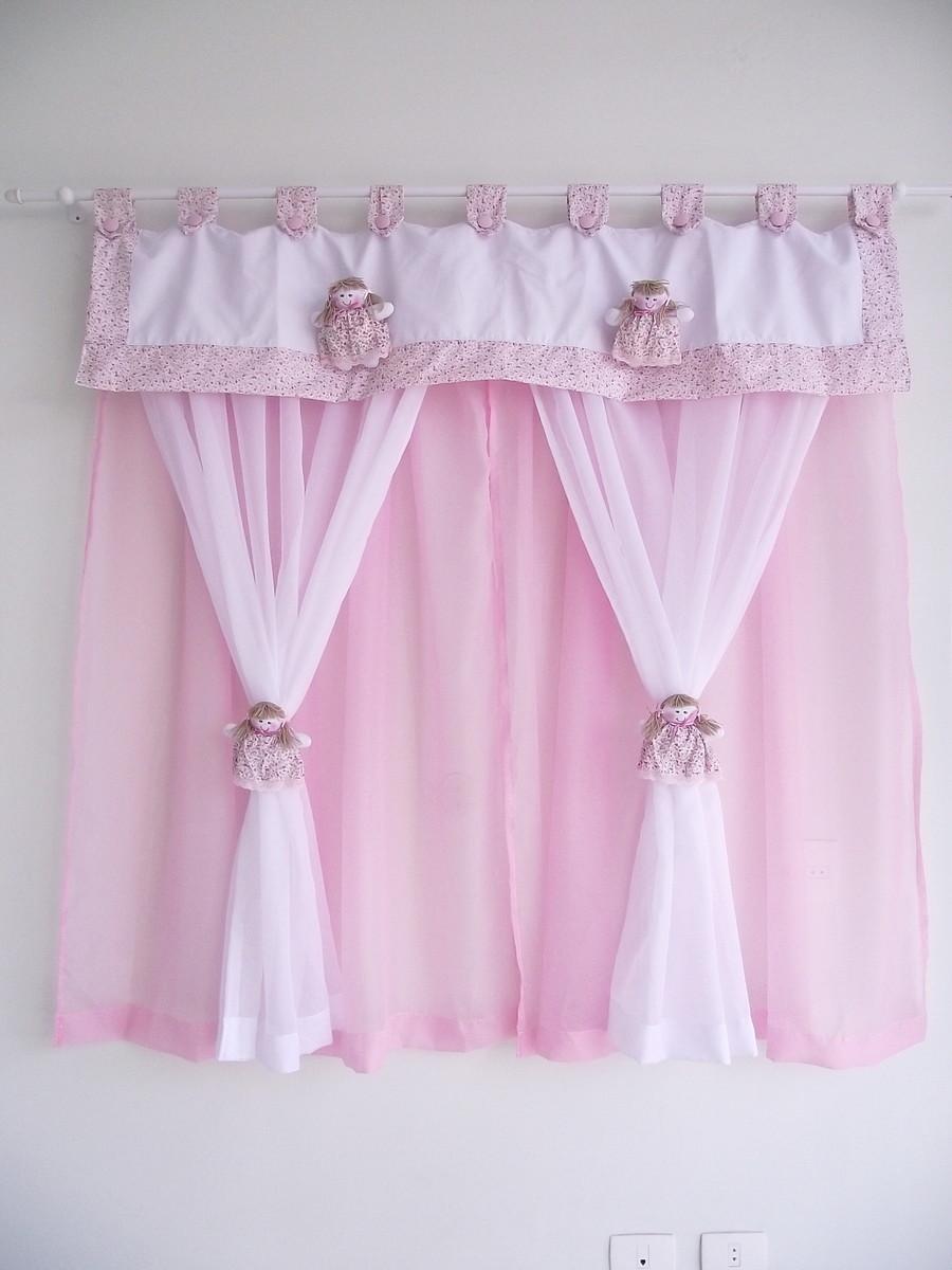 zoom cortina para beb com bonequinhas