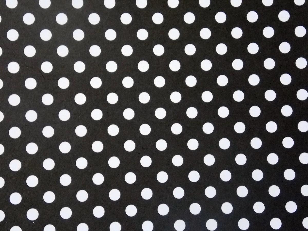 Papel preto de bolinhas brancas torre d 39 papel elo7 - Papel de pared blanco y negro ...