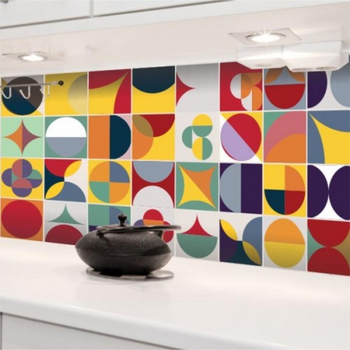 adesivo de cozinha  439  ADESIVOS COMPRAR E COLAR  Elo7 # Adesivo Em Azulejo De Cozinha