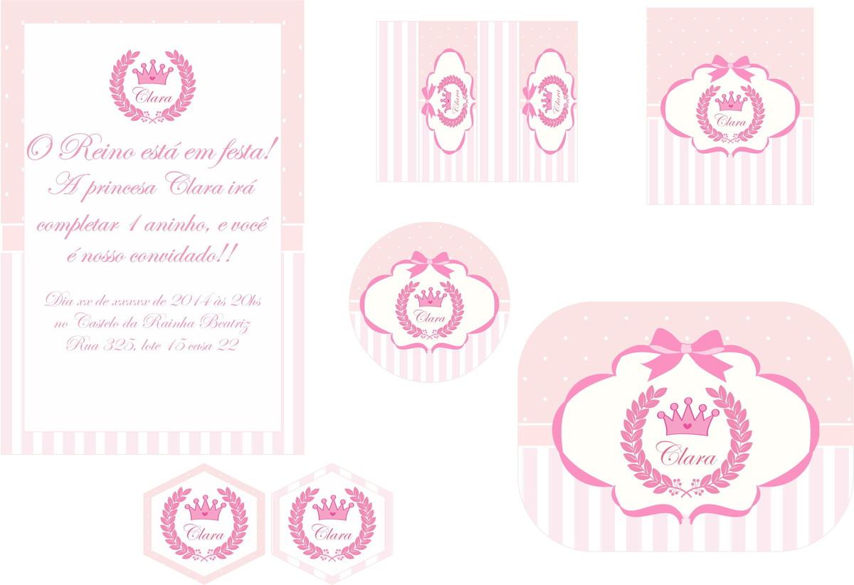 Favoritos Festa Personalizada Coroa Princesas no Elo7 | Festa Personalizada  LT14